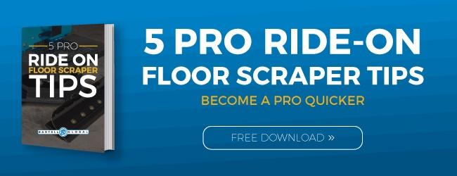 5 Pro Ride on Floor Scraper Tips Button