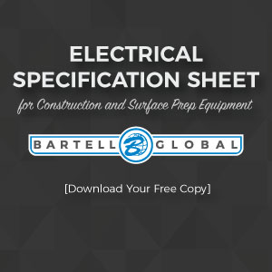Electrical Specification Sheet for Construction and Surface Prep Equipment [Download Your Free Copy]