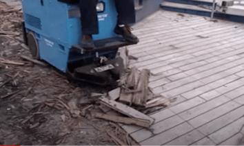 teak decking removal
